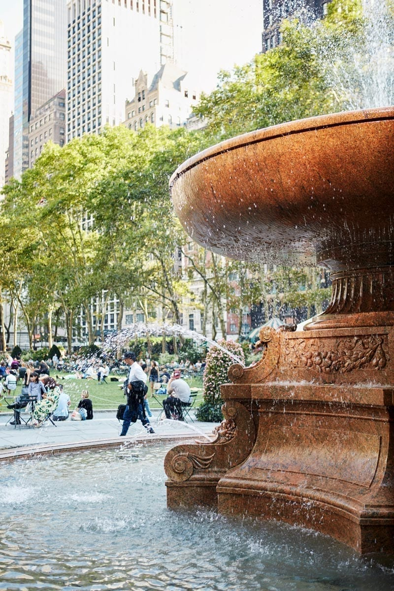 Josephine Shaw Lowell Fountain Bryant Park
